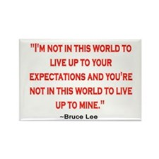 BRUCE LEE QUOTE Rectangle Magnet