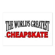 """""""The World's Greatest Cheapskate"""" Postcards (Packa"""