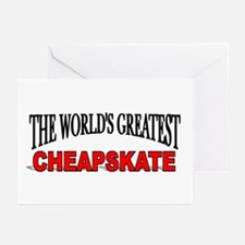 """""""The World's Greatest Cheapskate"""" Greeting Cards ("""