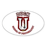 What the Duck University Oval Sticker