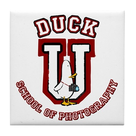 What the Duck University Tile Coaster
