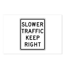 Slower Traffic Keep Right - USA Postcards (Package