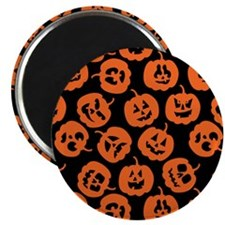 Halloween Pumpkin Pattern Magnet