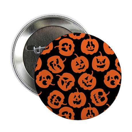 """Halloween Pumpkin Pattern 2.25"""" Button"""