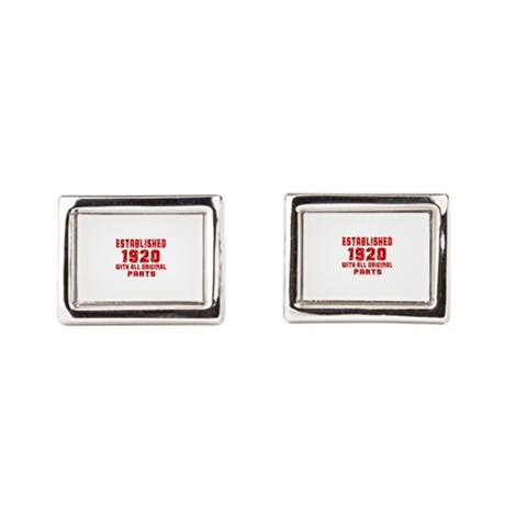 Established 1920 With All Or Rectangular Cufflinks