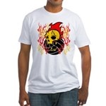 FlameSkull Fitted T-Shirt