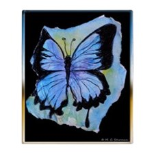 Blue butterfly! Nature art! Throw Blanket