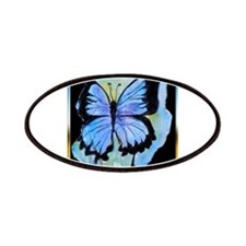 Blue butterfly! Nature art! Patches