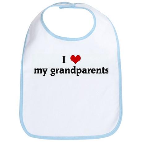 I Love my grandparents Bib