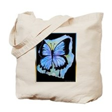 Blue butterfly! Nature art! Tote Bag