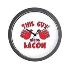 This Guy Needs Bacon Wall Clock