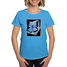 Blue butterfly! Nature art! T-Shirt