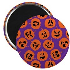 Halloween Pumpkin Pattern Purple Magnets