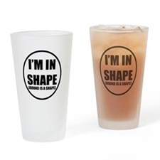 Funny Fat shirt Drinking Glass