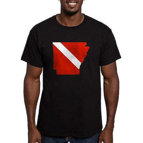 Arkansas Diver Men's Fitted T-Shirt (dark)