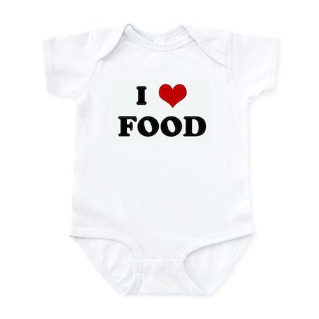 I Love FOOD Infant Bodysuit
