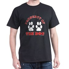 Property of the Dog BLACK red T-Shirt