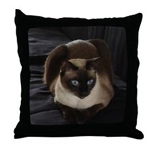 Lulú, the Siamese Cat Throw Pillow