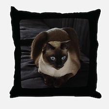 Lulú, the Siamese Cat Throw Pillow