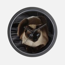 Lulú, the Siamese Cat Wall Clock