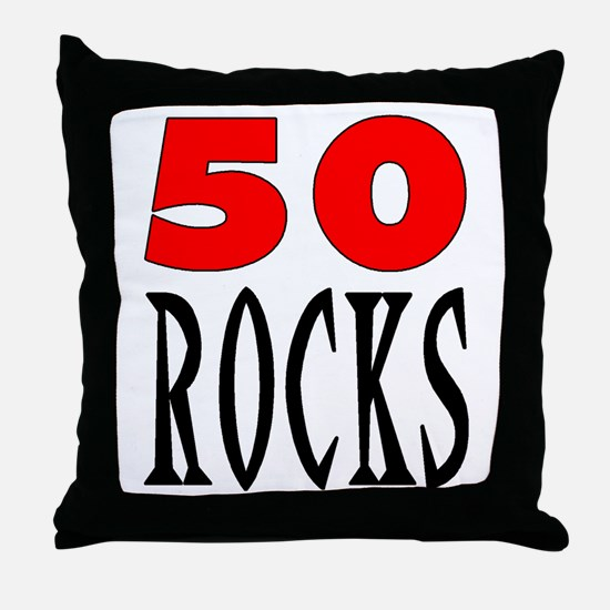 50 ROCKS Throw Pillow