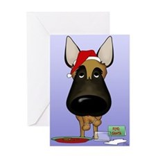 Malinois Santa Greeting Card