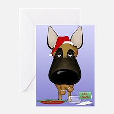 Malinois Santa Greeting Card