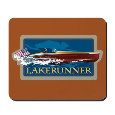 Lakerunner Wooden Boat Mousepad