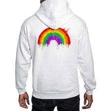 Rainbow Splatter (back) Hoodie
