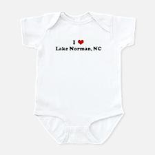 I Love Lake Norman, NC Infant Bodysuit