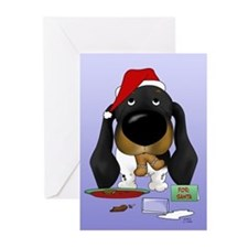 Doxie Santa Greeting Cards (Pk of 20)