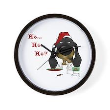 Doxie Santa Wall Clock
