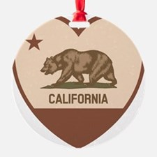 Love California - Retro Ornament