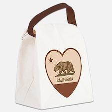 Love California - Retro Canvas Lunch Bag