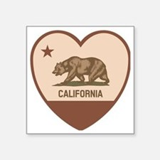 "Love California - Retro Square Sticker 3"" x 3"""