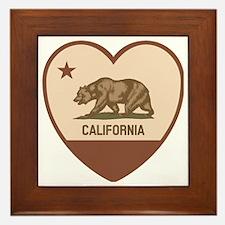 Love California - Retro Framed Tile