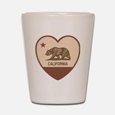 Love California - Retro Shot Glass