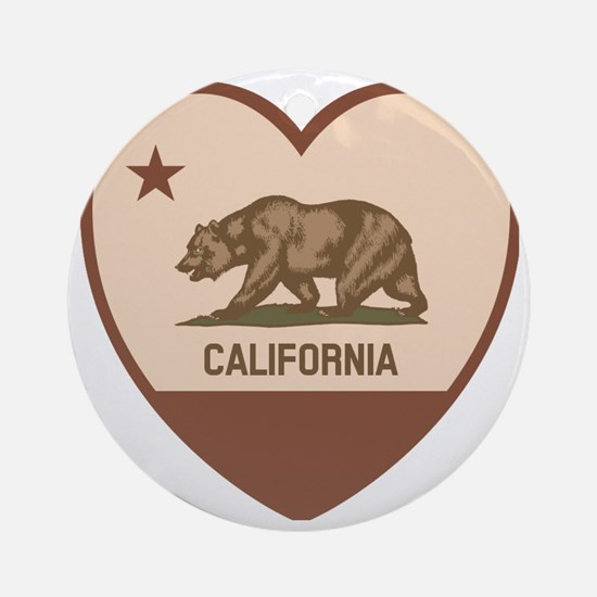 Love California - Retro Round Ornament