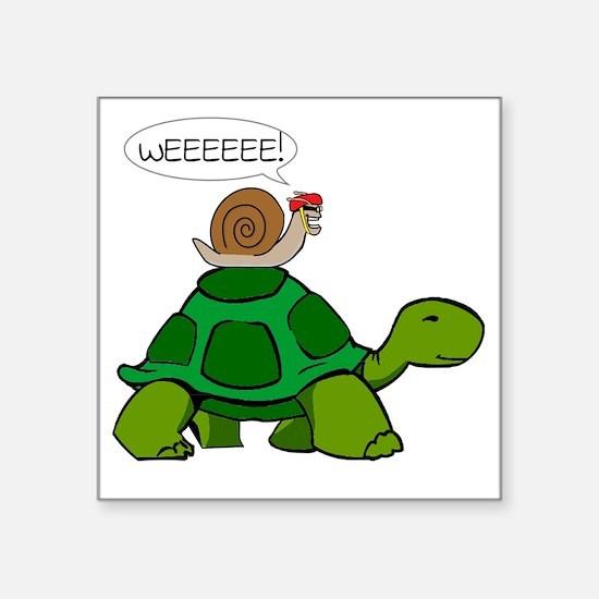"Snail & Turtle Square Sticker 3"" x 3"""
