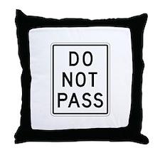 Do Not Pass - USA Throw Pillow