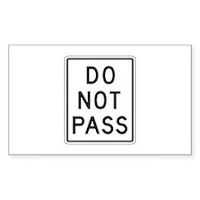 Do Not Pass - USA Rectangle Decal