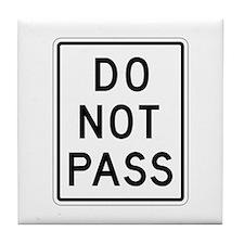 Do Not Pass - USA Tile Coaster