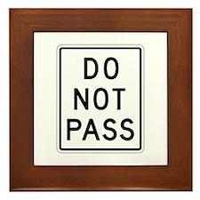 Do Not Pass - USA Framed Tile