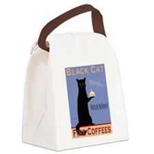Black Cat Coffee Canvas Lunch Bag
