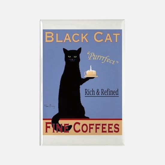 Black Cat Coffee Rectangle Magnet