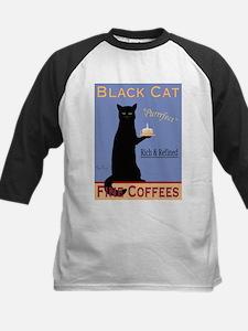 Black Cat Coffee Kids Baseball Jersey