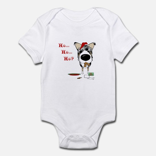 Smooth Collie Santa Infant Bodysuit