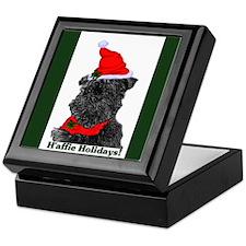 Affenpinscher Christmas Keepsake Box