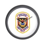 Tampa Airport Police Wall Clock