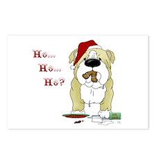 Bulldog Santa Postcards (Package of 8)